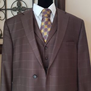 Other - TOP OF THE LINE PAUL FREDERICK 3 PEICE SUIT 48R